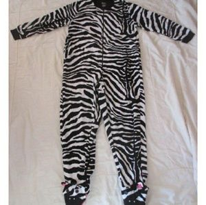 Nick & Nora Footed Pajama Zebra